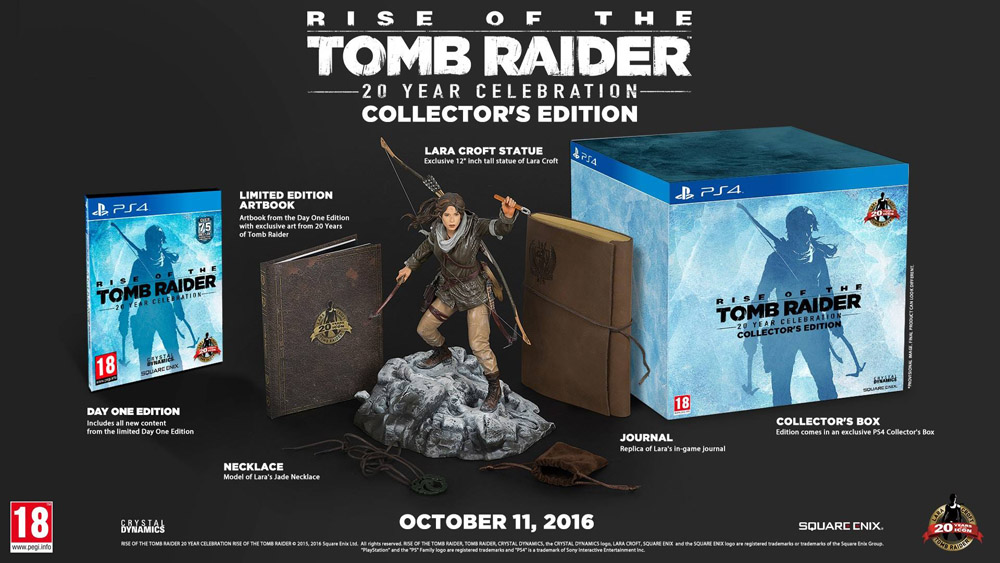 Rise of the Tomb Raider: 20 Year Celebration Collector's Edition