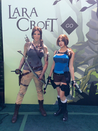 Lara Croft GO panel
